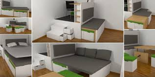 saving furniture. Swedish Innovative Space Saving Table And Bed Set Design By Matroshka Video Furniture