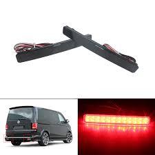 Caravelle Lighting Angrong 2x Led Rear Bumper Reflector Reverse Tail Light Black For Vw Transporter T5 Caravelle