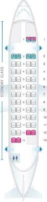 seat map an airlines jal atr 42