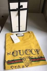 gucci yellow shirt. image is loading authentic-gucci-coco-capitan-logo-print-t-shirt- gucci yellow shirt