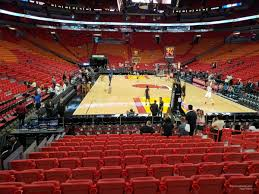 Miami Heat Interactive Seating Chart Americanairlines Arena Section 113 Miami Heat