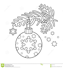 Small Picture Coloring Page Outline Of Christmas Decoration Christmas Tree
