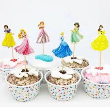 12 X Disney Princess Cupcake Topper Cake Snow White Princess Jasmine