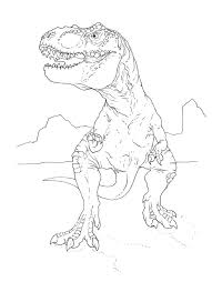 post free t rex coloring pages