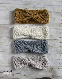 Crochet Patterns For Headbands Enchanting Knotted Headband Crochet Pattern Multiple Sizes Crochet Hats