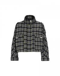 Design Check Categories Surge Funnel Collar Jacket In Check