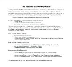 Example Of Resume Objectives