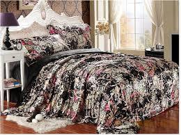 Black Floral Duvet Cover - Sweetgalas & Black Floral Silk Satin Luxury Bedding Set King Queen Full Twin Adamdwight.com
