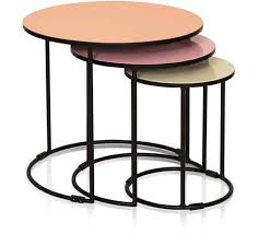 three nesting side tables