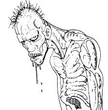 Zombie Coloring Pages Printable Coloringstar