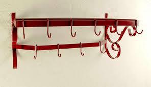 wrought iron wall mounted pot rack