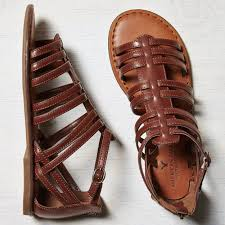 brown leather gladiator sandals american eagle o zip back gladiator sandal