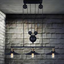 3 heads lightings retro iron pulley pendant lights loft american vintage industrial pulley rope antique edison pendant lamps jpg