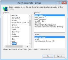 Convert Israel coordinates - Israel TM Grid, ITM (Ozi) (Israel TM Grid ...