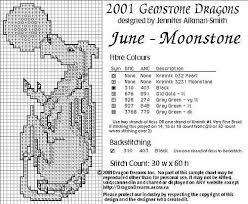 Birthstone Dragons - Cross Stitch Crazy