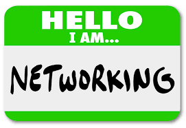 network your way into a new job the roll out networking tag sticker to wear when meeting people and making connections at a mixer
