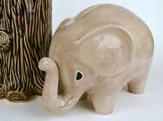 A Reserved For Jennifer 2 Piggy Bank Ceramic Personalized Large Jumbo  Elephant Coin  Gray Or Cream