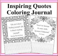 Inspiring Quotes Lined Coloring Journal Pages By Debbie Madson Tpt