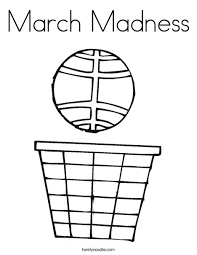 Small Picture March Madness Coloring Page Twisty Noodle