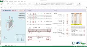 Small Picture RC Shear Wall Analysis and Design Spreadsheet Civil Engineering