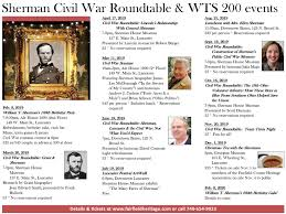 civil war roundtable events sherman events