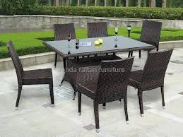 stackable rattan dining table chair dining furniture ld1131 1