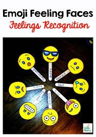 Emoji Feelings Chart Printable Emoji Feeling Faces Feelings Recognition Kiddie Matters