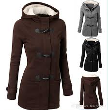 whole winter jacket women hooded coat black long sleeve fashion autumn warm cotton women parka horn on coats plus size 2xl winter jacket women women