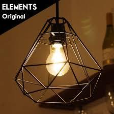 wire lamp shade pendant light led e26 nostalgic north european diamond black 66609