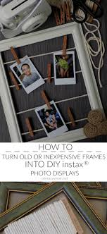 one savvy mom nyc area mom blog how to turn old or inexpensive frames into diy instax photo displays