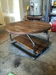 coffee table with pipe legs pallet industrial pipe coffee table pallets round coffee table pipe legs
