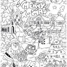 Kerst Kleurplaat Moeilijk