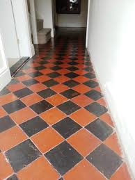 red and black quarry tiles riseley after cleaning