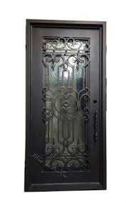 don juan wrought iron exterior door with glass