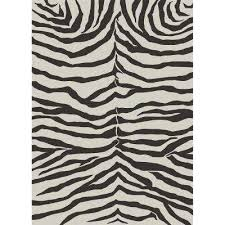 washable zebra safari black and white 5 ft x 7 ft area rug