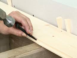 position first board of tongue and groove