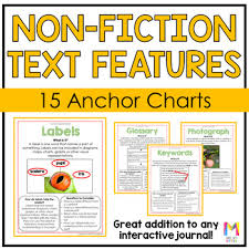 Nonfiction Text Features Anchor Chart Printable Nonfiction Text Features Posters