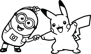 Pokemon Ash And Pikachu Coloring Pages Drawing At Free For Personal