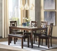 dining room tables san diego ca. ashley - bennox (d384-325) brown 6pc. dining table set room tables san diego ca