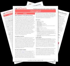 i am legend study guide from the creators of sparknotes the printed pdf version of the litchart on i am legend ""