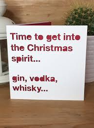 Christmas Card Drink Spirit Quote Alcohol Funny Christmas Xmas