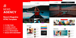 Newspaper Html Template News Agency News Magazine Newspaper Html By Templines Themeforest