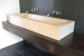 sinks trough sinks with two faucets trough bathroom sink with two faucets canada long solid