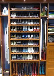 elegant shoe storage solution for modern closet
