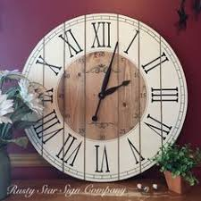 office large size floor clocks wayfair. 28 Inch Rustic Wall Clock, Large Wooden Distressed Farmhouse Roman Numeral, Handcrafted Handmade By Office Size Floor Clocks Wayfair