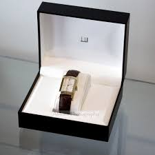 alfred dunhill rare faceted glass square gold plated gents watch dunhill faceted glass mens gold watch