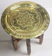 brass and metal furniture. Moroccan Arabesque Engraved Carved Polished Brass Tray Folding Table And Metal Furniture