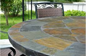 idea slate patio table and set costco sets slate patio bar table round