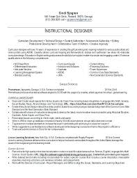 Technical Designer Resumes Graphic Design Resume Objectives Instructional Designer Resume