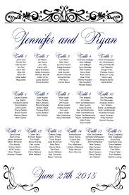 wedding guest seating chart template scroll wedding seating chart printable custom seating chart